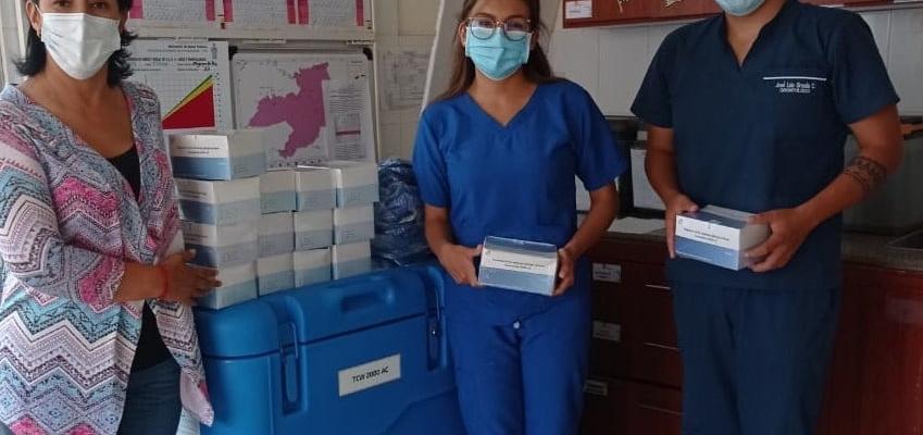 PREFECTURA DE LOJA Y VICEPREFECTURA REALIZÓ LA DONACIÓN DE 500 PRUEBAS RÁPIDAS PARA DETECCIÓN DEL COVID-19.